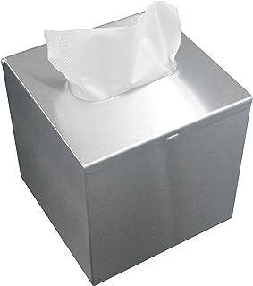 LEMON CLOUD Tissue Box Edelstahl, Rostfreie Quadratische Tissue Box mit Abdeckung, für Badezimmer Küche Schlafzimmer Büro, Ständer oder Wandmontage (13 * 13 * 13 cm Silber Gebürstet)
