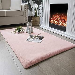 HETOOSHI Zacht fluweel gebied tapijt bont stoel bank cover en gebied comfortabel tapijt antislip voor slaapkamer, woonkame...