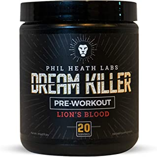 Phil Heath Labs All Natural DreamKiller Preworkout | Supplement for Energy Pump and Focus - Teacrine Creatine Beta Alanine Caffeine | 20 Servings
