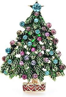 Spille per albero con smalto verde Spille per spille da ufficio per feste da uomo con albero di Natale