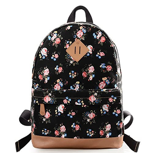 6addd16d0f3 DGY Fashion School Backpacks Canvas Backpacks Cute Printed Backpack for  Teenage Girls