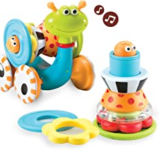 Yookidoo Musical Crawl N' Go Snail Toy with Stacker – Promotes Baby's..