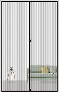 MAGZO Magnetic Screen Door 30 x 80, Reinforced Fiberglass Mesh Curtain Door Mesh with Full Frame Hook&Loop Fits Door Size up to 30