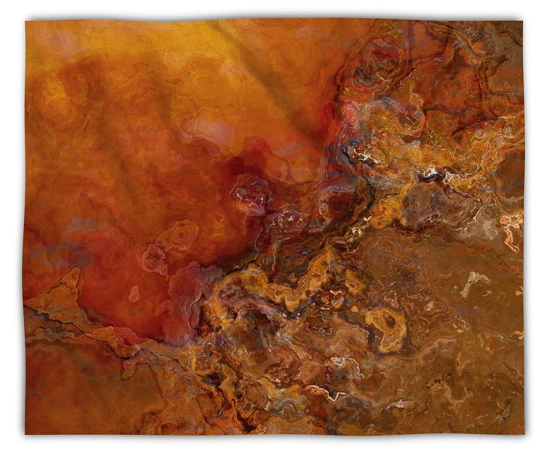 Max 53% OFF Fleece Blanket Throw 50x60 or 60x80 in Genuine Brown Gol Orange Red
