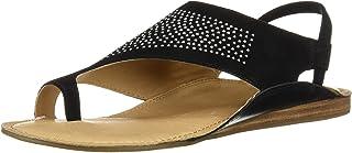 Aerosoles Women's Handbook Flat Sandal, Black Suede, 9 M US
