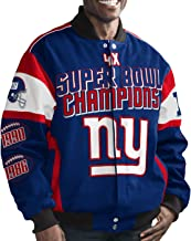 New York Giants NFL G-III Super Bowl Cotton Twill Commemorative Jacket
