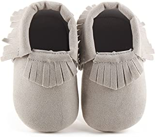 Unisex Baby Soft Sole Tassels Crib Shoes Moccasins Loafers