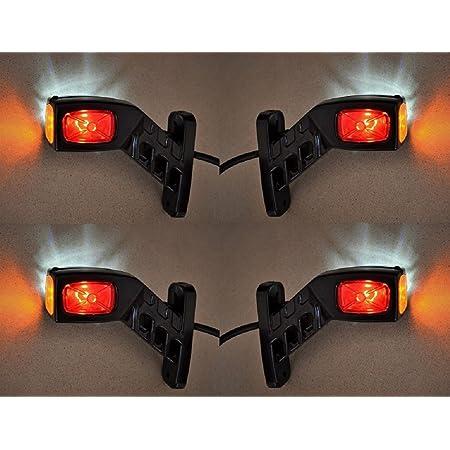 4 X 12 V 24 V Seite Outline Board End Marker Led Lichter Truck Trailer Chassis Kippmulde Caravan Camper Rot Wei Orange Auto