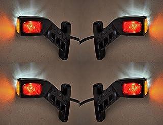 4?x 12?V/24?V Seite Outline Board End Marker LED Lichter Truck Trailer Chassis Kippmulde Caravan Camper rot wei? orange