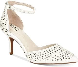 Alfani Womens Joyy Leather Pointed Toe Ankle Strap Classic Pumps US