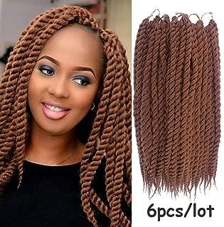 Dorsanee 6 Packs 14 Inch Havana Mambo Twist Crochet Hair Senegalese Twist Crochet Braids Havana Twists Braiding Hair (30#)