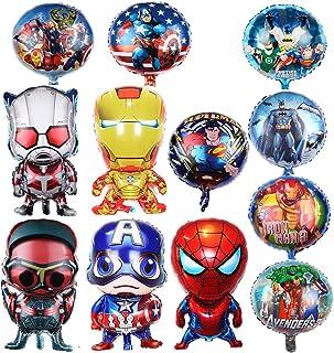 Superhero Birthday Party Foil Balloon 12 Pack Avengers Super Hero Birthday Party Supplies Party Decorations