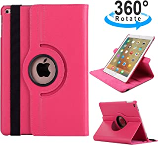 $21 » iPad Case for iPad 2020 11 inch,TechCode 360 Degree Rotating PU Leather Slim Tablet Protector Smart Stand Feature Flip Folio Protective Case Sleeve for iPad Pro 11 2nd Generation (Hot Pink)