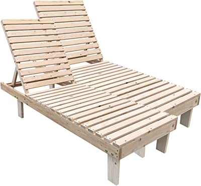 Amazon.com: Outsunny - Tumbona plegable de madera de acacia ...
