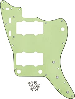 IKN 3Ply Mint Green Guitar Pickguard JM Scratch Plate with Screws for Vintage Style Jazzmaster Guitar Part