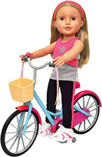 Doll Bicycle - Bicycle with Streamers & Basket for 18