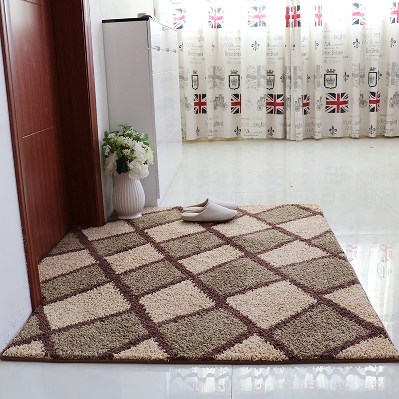 Indoor mats Hallway mats Non-Slip Water-Absorbing mats-G 120x140cm(47x55inch)