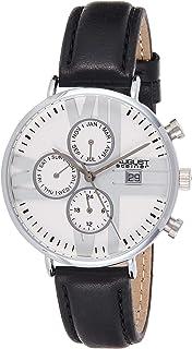 ساعة اوغست ستاينر النسائية كوارتز وشاشة تناظرية وحزام جلدي