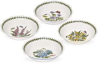 Portmeirion Botanic Garden Terrace Scalloped Edge Bowls Set of 4 (Assorted Flowers)