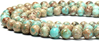 100% Natural Stone Round Gemstone Loose Beads Top Quality Well Polished Natural Round Stone Crystal Energy Stone Healing Power for Jewelry Making 1 Strand 15