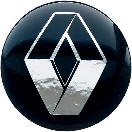 Logoembl Aufkleber 4 X 55 Mm Embleme Kompatibel Mit Renault Radkappen Nabenkappen Nabendeckel Silikon Auto