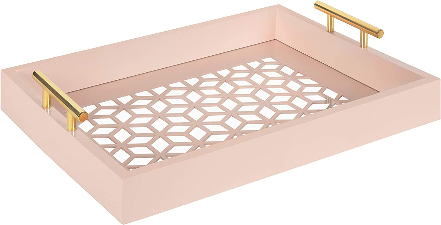 Kate and Laurel OFFicial site Caspen Rectangle Cut Tray supreme Decorative Pattern Out