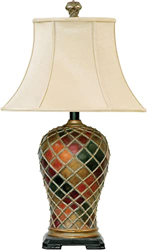 wholesale Dimond Lighting discount 91-152 18 by 30-Inch Joseph 1-Light Traditional Table wholesale Lamp, Bellevue Finish online sale