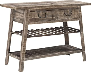 Ashley Furniture Signature Design - Camp Ridge Console Sofa Table - Rustic Farmhouse Style - Light Brown