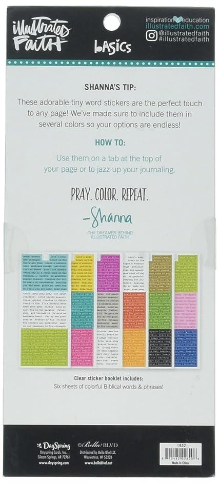 DaySpring Bible Journaling - Cardstock Sticker Booklet - Words (BB1852)
