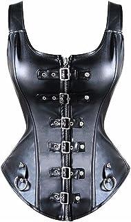 in ecopelle con stecche in acciaio M con chiusura con cerniera colore: nero Nero Underbust corsetto da donna Beauty-You stile Steampunk