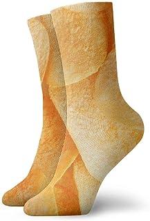 tyui7, Divertidos patrones de papas fritas calcetines de compresión antideslizantes calcetines deportivos acogedores de 30 cm para hombres, mujeres y niños