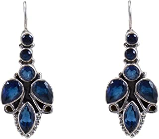 2193d7a06 Silverwala 925-92.5 Sterling Silver Sapphire Stone Fashion Dangle & Drop  Earring for Women and