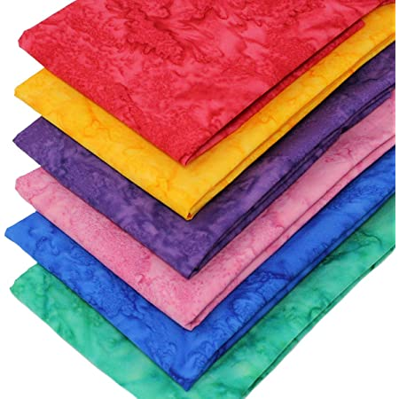 Rainbow Fat flat packs of x 6-100/%  Cotton Earth tones Candy Brights Cotton Fabric MIX Fat quarters Royal  6 x 50 x 52 Light shades