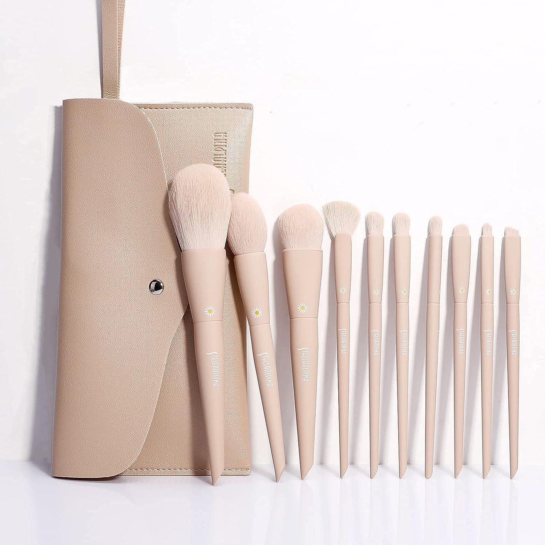 MSQ Make safety Up Brushes Limited time sale 10Pcs Blen Brush Set Foundation Makeup
