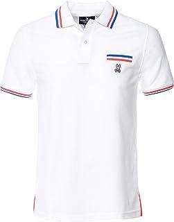 Psycho Bunny Men's Pima Cotton Reardon Pocket Polo Shirt White