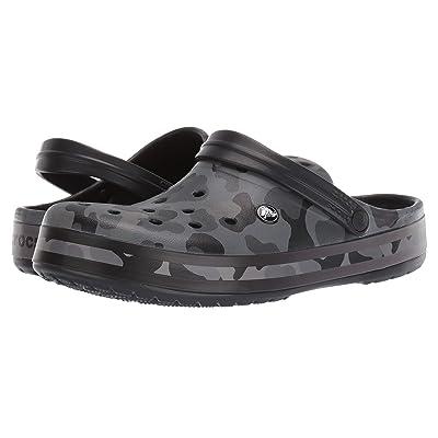 Crocs Crocband Seasonal Graphic Clog (Slate Grey/Black) Clog/Mule Shoes