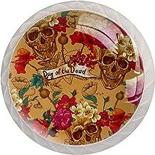 Ladegrepen Kabinetknoppen Rond Pack van 4 voor kast, lade, borst, dressoir enz. Suikerschedel en rozen