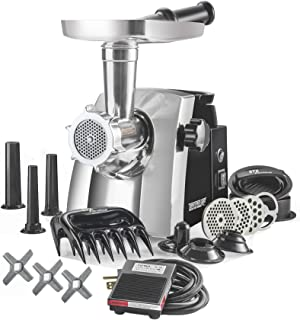 STX Turboforce Cadet - Platinum Edition w/Foot Pedal - Electric Meat Grinder & Sausage Stuffer - The Compact Titan of Grinders with AVI Feed Technology, High Volume Feed Tray, 120 Lbs/Hour Plus More!