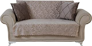 Chiara Rose Couch Covers for Dogs Sofa Cushion Slipcover 3 Seater Furniture Protectors Futon Cover, Loveseat, Acacia Tan