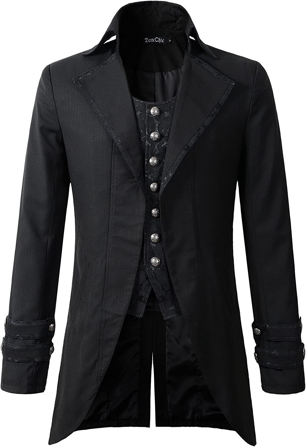 DarcChic Mens Gothic Morning Jacket Tailcoat Steampunk Victorian