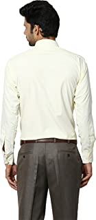 Protext Mens Slim Fit Wrinkle Free Cotton Shirt (Yellow,$a)