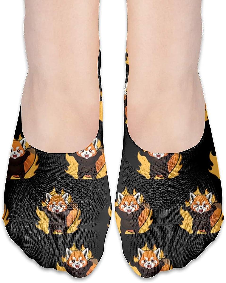 No Show Socks Women Men For Red Panda Feeling Furious Flats Cotton Ultra Low Cut Liner Socks Non Slip