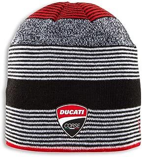 Ducati Corse Linestripe Knit Patch Beanie Red Black White 987697362