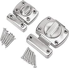 2 stuks deurvergrendelingen sloten roestvrij staal draaisluiting kast deur deurslot vergrendeling boutvergrendeling diefst...