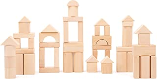 Small Foot 11396 naturalne drewniane klocki, wykonane z drewna, certyfikat FSC 100%, stabilny zestaw do budowania zabawek,...