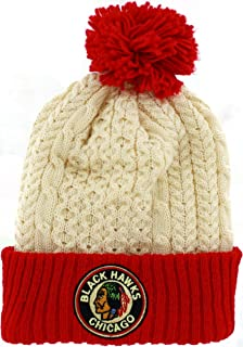 Mitchell & Ness Cuffed Hockey Beanie Hat with POM POM - NHL Knit Toque Cap