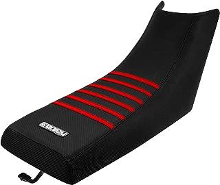 1987-2006 Yamaha Banshee Seat Cover ATV Black / Red Ribs