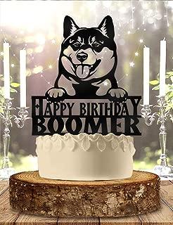 Personalized Shiba Inus Dog Pet Birthday Cake Topper