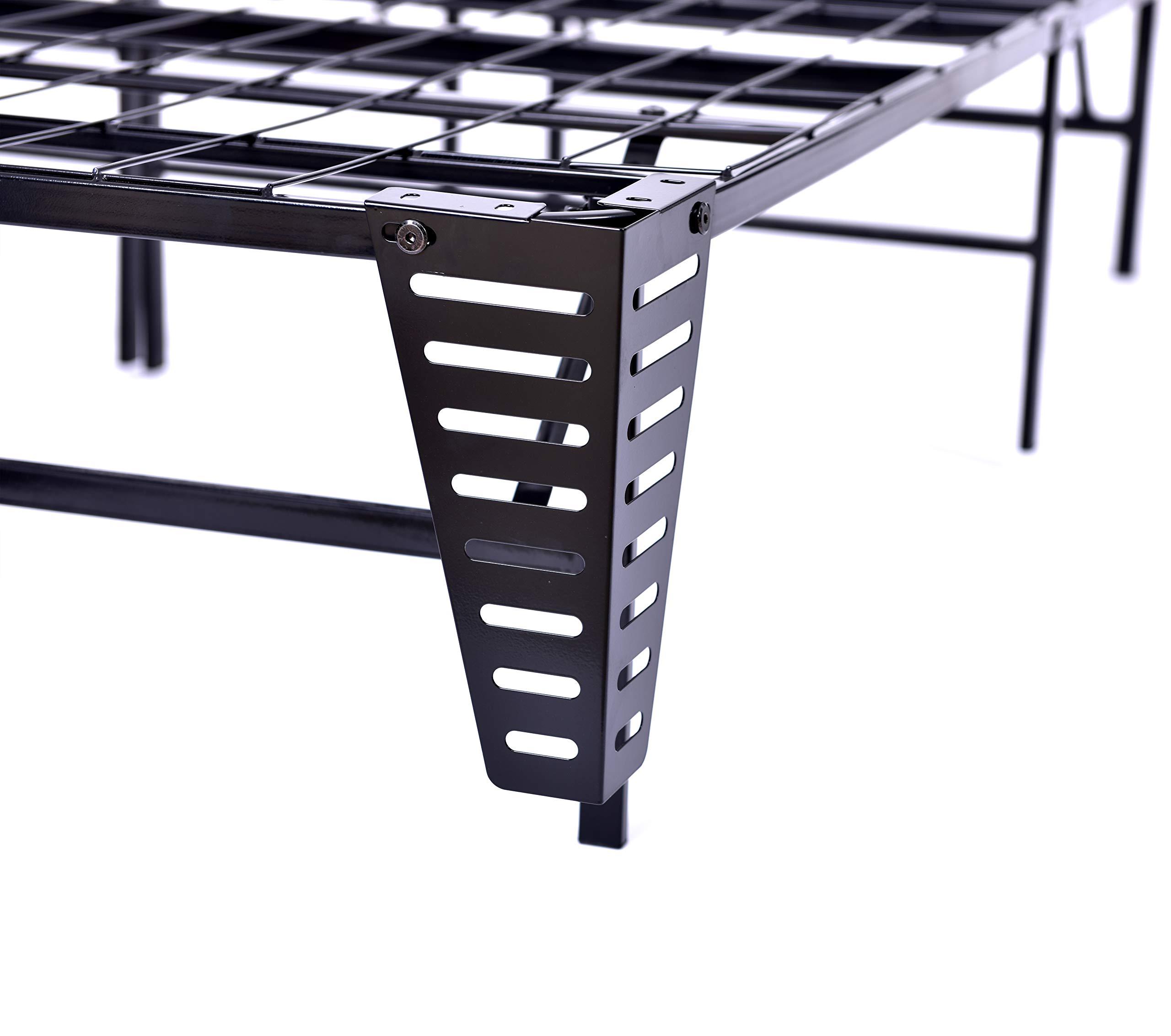 SUDE Base de Plataforma de Metal Plegable de 35,56 cm con muelles de Repuesto para colchón de Base de Acero Resistente, Color Negro: Amazon.es: Juguetes y juegos