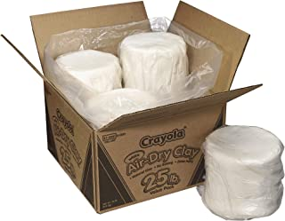 Crayola Air Dry Clay, White, No Bake Modeling Clay for Kids, 25lb